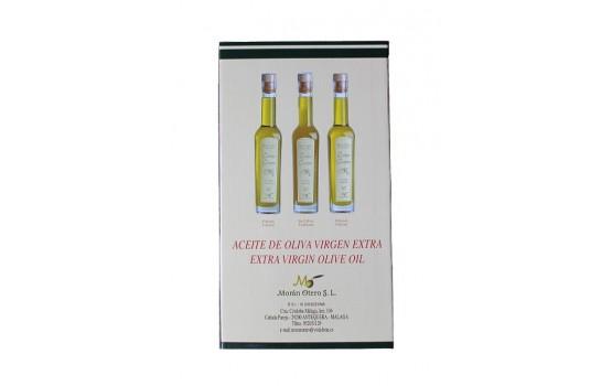 Estuche de cata de aceite de oliva virgen extra.