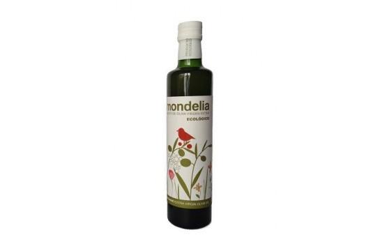 Botella de aceite de oliva virgen extra ecológico