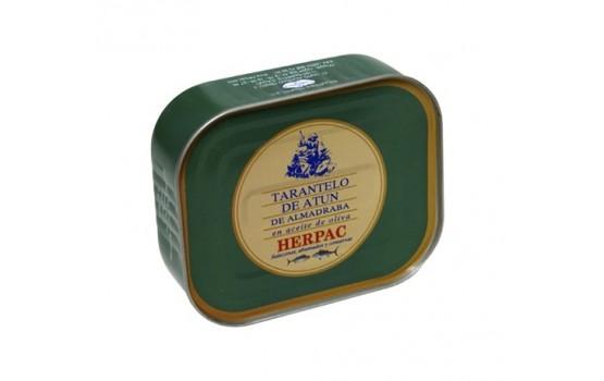 Tarantelo de atún rojo en aceite de oliva.