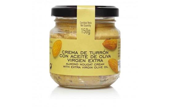 Crema de Turrón con aceite de oliva virgen extra